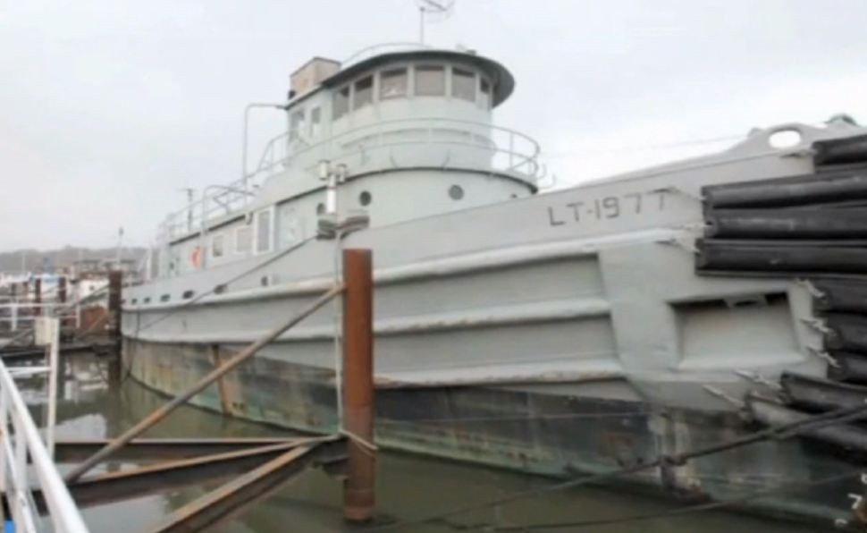 Phil Wallis now lives in this renovated old Tug