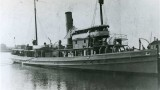 USS Conestoga (AT 54), the last known broadside photograph taken likely during WWI when the tugboat was equipped with a 3-inch 50 caliber naval gun and two machine guns. The tugboat was later equipped with only a single 3-inch 50 caliber gun when it disappeared while en route from Mare Island to America Samoa, by way of Pearl Harbor in 1921.  Credit: U.S. Naval History and Heritage Command NH 71299